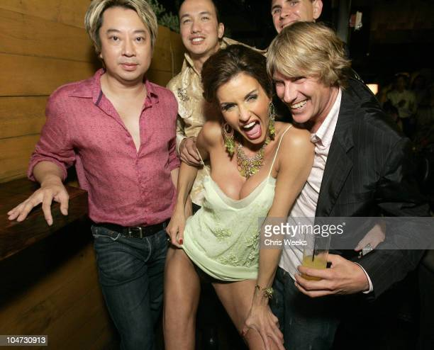 Janice Dickinson Bobby Trendy and guests