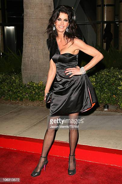 Janice Dickinson during Circle of Passion An Evening with Lloyd Klein Arrivals at Astra Lounge in West Hollywood California United States