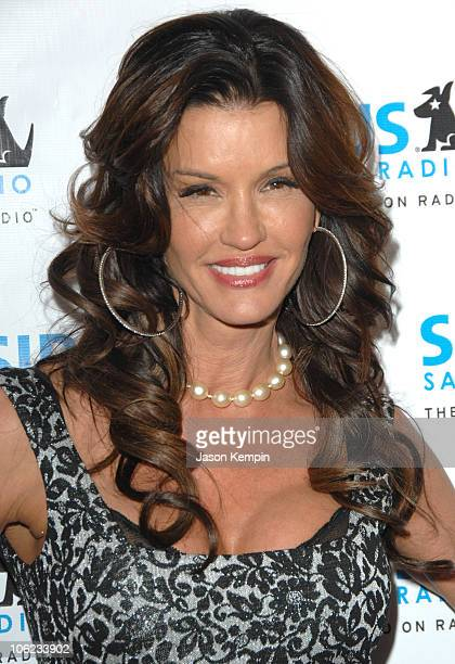 Janice Dickinson during Jamie Foxx Launches The Foxxhole Channel January 23 2007 at Sirius Satellite Radio Station in New York City New York United...