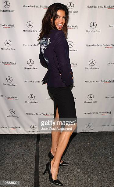 Janice Dickinson during Mercedes-Benz Spring 2006 L.A. Fashion Week at Smashbox Studios - Day 3 - Arrivals at Smashbox Studios in Culver City,...