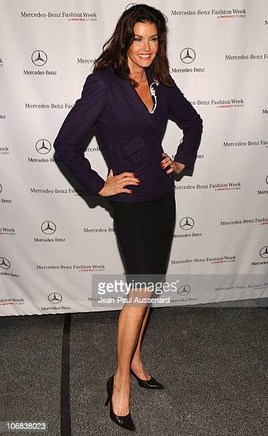 Janice Dickinson during MercedesBenz Spring 2006 LA Fashion Week at Smashbox Studios Day 3 Arrivals at Smashbox Studios in Culver City California...