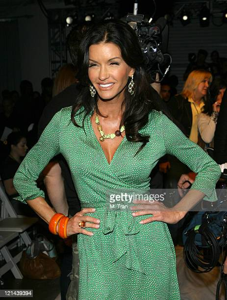 Janice Dickinson front row at 2ist Fall 2007 during MercedesBenz Fall 2007 LA Fashion Week at Smashbox Studios 2ist Backstage and Front Row at...