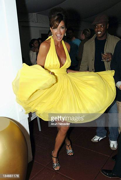 Janice Dickinson in a Colleen Quen design during San Francisco Fashion Week 2006 Post Party at Clift Hotel at Clift Hotel in San Francisco California...