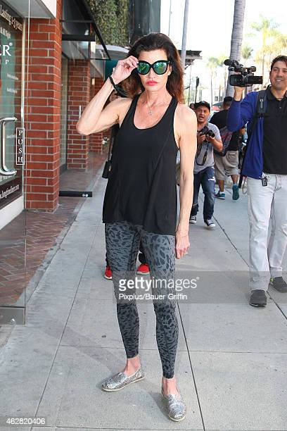 Janice Dickinson is seen on February 05, 2015 in Los Angeles, California.