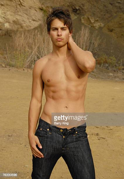 20070825 CA AUGUST 25 Janice Dickinson Modeling Agency Model Brian Kehoe poses at photo shoot in Griffith Park on August 25 2007 in Los Angeles...