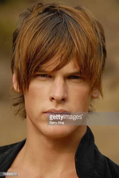 Janice Dickinson Modeling Agency Model Grant Whitney Harvey poses at photo shoot in Griffith Park on August 25 2007 in Los Angeles California