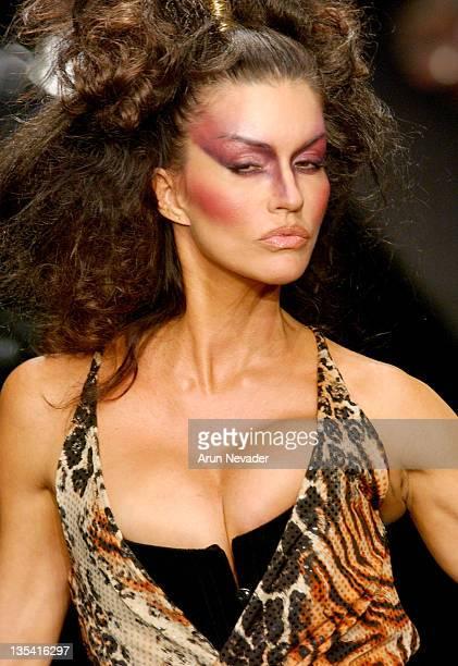 Janice Dickinson wearing Lloyd Klein Fall Fashion 2004