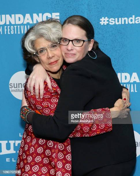 Janice Engel and Katy Drake Bettner attend the Raise Hell The Life Times Of Molly Ivins Premiere during the 2019 Sundance Film Festival at Prospector...