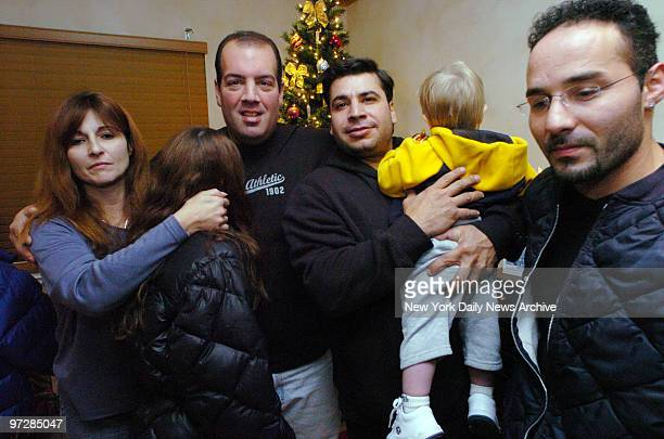 Janice Gallo and husband Vicent Gallo with children John Cammarata and neighbor Cammarata saved Gallo's children and neighbor from house fire