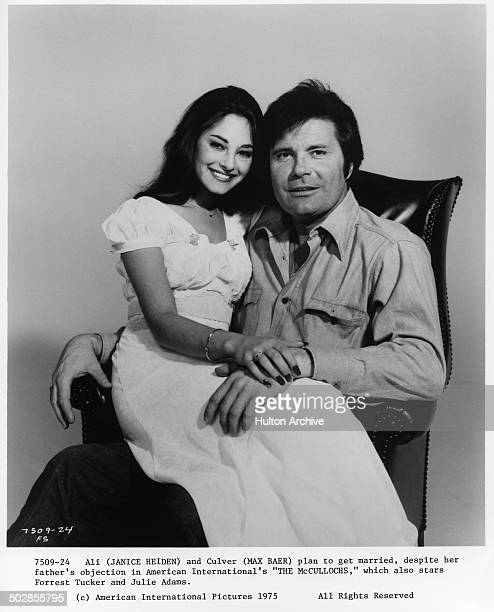 Janice Heiden and Max Baer Jr pose for the movie The Wild McCullochs circa 1975