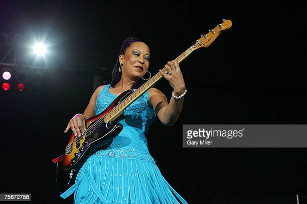 Janice Johnson of A Taste of Honey performs at the Verizon Wireless Amphitheater on July 29 2007 in San Antonio as part of the Solid Gold Dance Party...