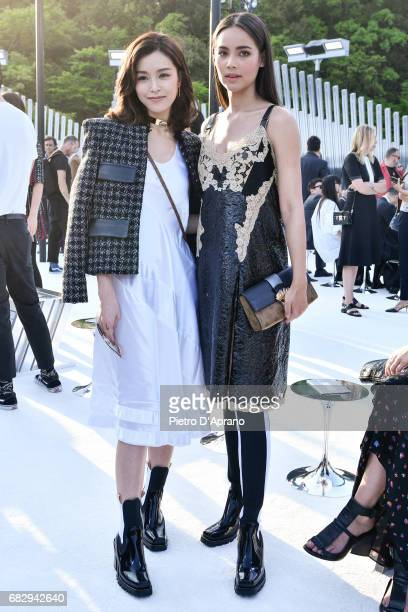 Janice Man and Urassaya Sperbund attend the Louis Vuitton Resort 2018 show at the Miho Museum on May 14 2017 in Koka Japan