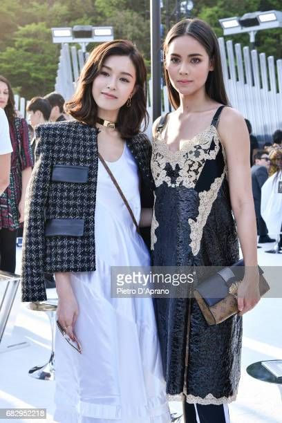 Janice Man and Urassaya Sperbund attend the Louis Vuitton Resort 2018 show at the Miho Museum on May 14 2017 in Koka Japan
