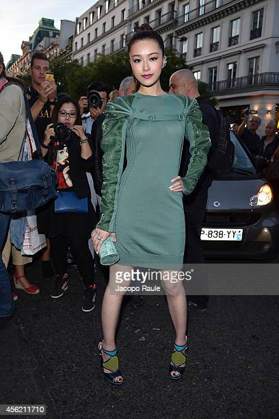 Janice Man arrives at Jean Paul Gaultier Fashion Show during Paris Fashion Week Womenswear SS 2015 on September 27 2014 in Paris France