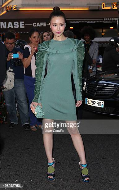 Janice Man attends JeanPaul Gaultier fashion show at Le Grand Rex as part of the Paris Fashion Week Womenswear Spring/Summer 2015 on September 27...