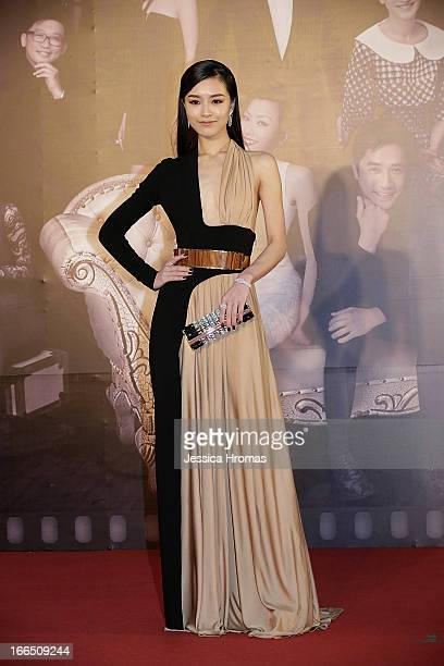 Janice Man on the red carpet at the 2013 Hong Kong Film Awards on April 13 2013 in Hong Kong Hong Kong