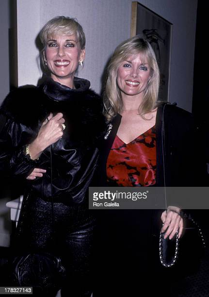 Janice Pennington and Dian Parkinson attend Focus Magazine Party on May 20 1987 at the Century Plaza Hotel in Century City California