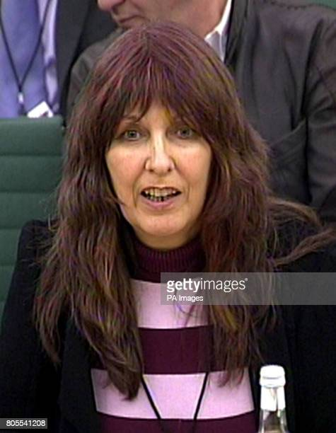 Janice Sharpe the mother of computer hacker Gary McKinnon gives evidence to the Home Affairs Committee relating to her son's extradition to the US in...