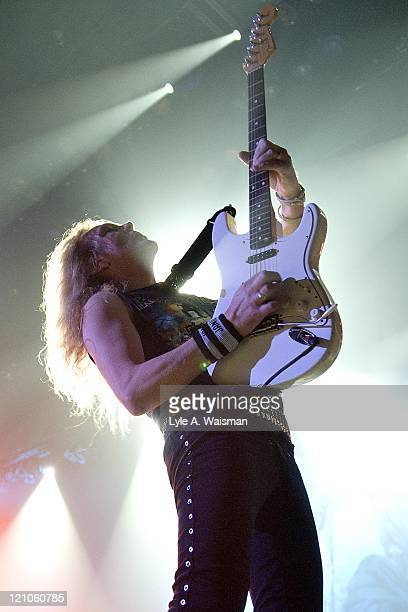 Janick Gers of Iron Maiden during Iron Maiden Live in Concert at Allstate Arena October 18 2006 at Allstate Arena in Rosemont Illinois United States