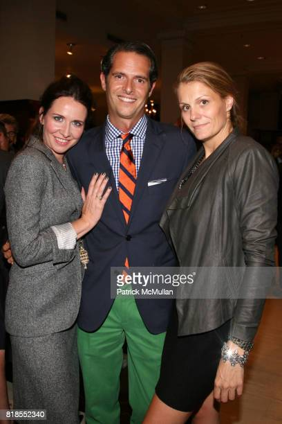 Janie Bryant Arthur Wayne and Anne Vincent attend The launch of 'True Prep' at Brooks Brothers on September 14 2010 in New York