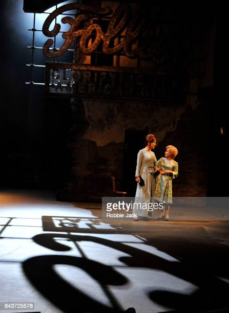 Janie Dee as Phyllis Rogers Stone and Imelda Staunton as Sally Durant Plummer in James Goldman's Follies directed by Dominic Cooke at The National...