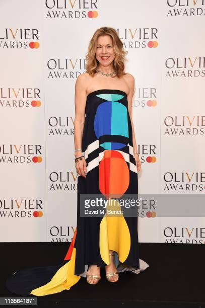 Janie Dee poses in the press room at The Olivier Awards 2019 with Mastercard at The Royal Albert Hall on April 7 2019 in London England