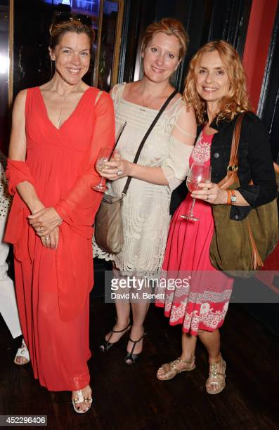 Janie Dee Susannah Harker and Maryam d'Abo attend an after party following the press night performance of The Importance of Being Earnest at...