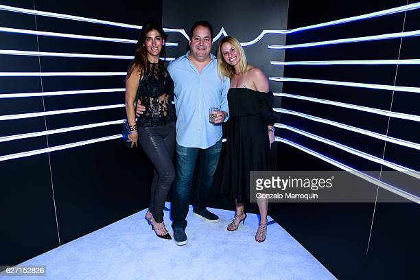 Janie Dim Josh Capon and Alexandra Blodgett at the Aby Rosen and Dom Perignon Celebrate Art Basel Miami Beach After Party at Wall at W Hotel on...