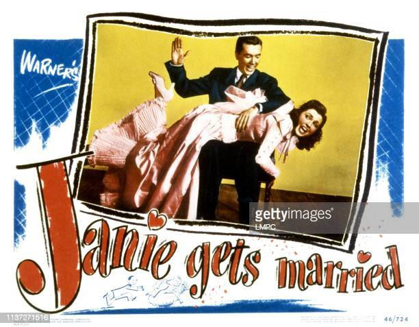 Janie Gets Married lobbycard Robert Hutton spanking Joan Leslie 1946