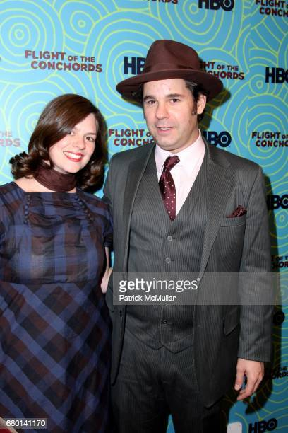 Janie Haddad and Paul F Tompkins attend HBO Hosts a the 2nd Season Viewing Party of FLIGHT OF THE CONCHORDS at Angel and Orensanz Foundation on...