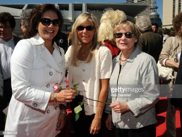 Janie Hendrix Jett Williams and Colley Bowman at the Nashville Music Garden dedication celebration at Hall of Fame Park on September 29 2009 in...