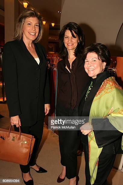 Janie Lewis, Susan Anthony and Lisa Koenigsberg attend Hermes Cocktail Party in Honor of The 9th Annual New York Fashion Conference at Hermes on...