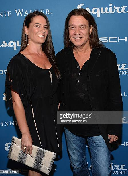 Janie Liszewski and Eddie Van Halen attend Esquire 80th Anniversary And Esquire Network Launch Celebration at Highline Stages on September 17 2013 in...