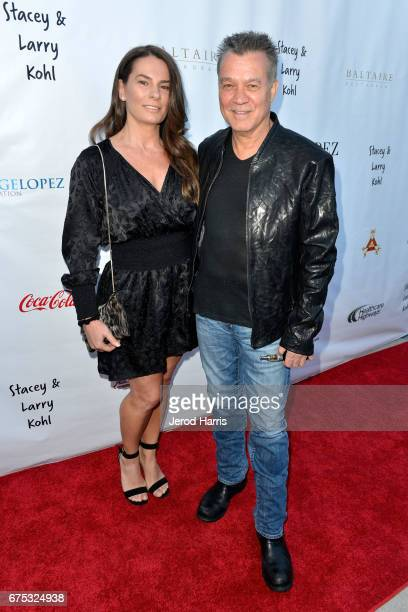 Janie Liszewski and Eddie Van Halen attend the George Lopez Foundation 10th Anniversary Celebration Party at Baltaire on April 30 2017 in Los Angeles...