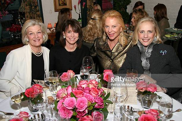 Janie Murray Eva O'Neil and Ann Barish attend Ann Barish's Holiday Luncheon at La Grenouille on December 4 2006 in New York City
