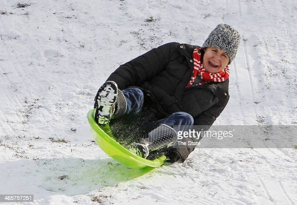 Janie Quinn enjoys the snow at Crayton Middle School in