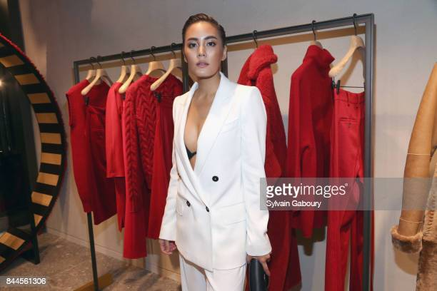 Janie Tienphosuwan attends Max Mara Celebrates Madison Avenue Boutique Reopening on September 8 2017 in New York City