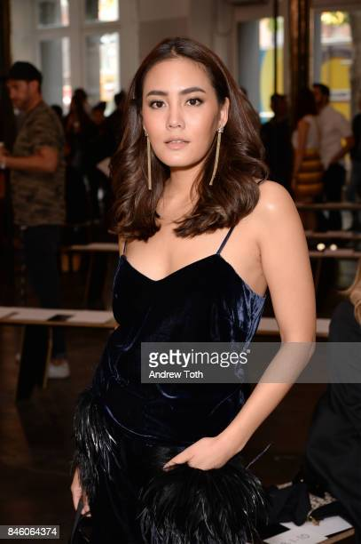 Janie Tienphosuwan attends Sally LaPointe fashion show during New York Fashion Week on September 12 2017 in New York City
