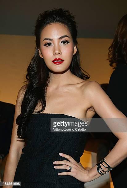 Janie Tienphosuwan attends the Salvatore Ferragamo show as part of Milan Fashion Week Womenswear Spring/Summer 2014 at on September 22 2013 in Milan...