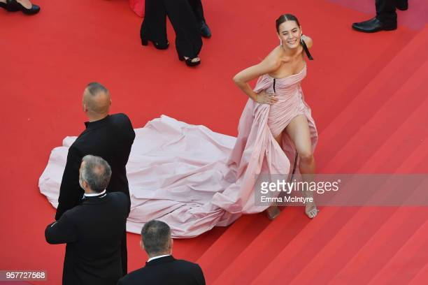 Janie Tienphosuwan attends the screening of Girls Of The Sun during the 71st annual Cannes Film Festival at Palais des Festivals on May 12 2018 in...