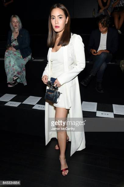Janie Tienphosuwan attends Vivienne Tam fashion show during New York Fashion Week The Shows at Gallery 1 Skylight Clarkson Sq on September 10 2017 in...
