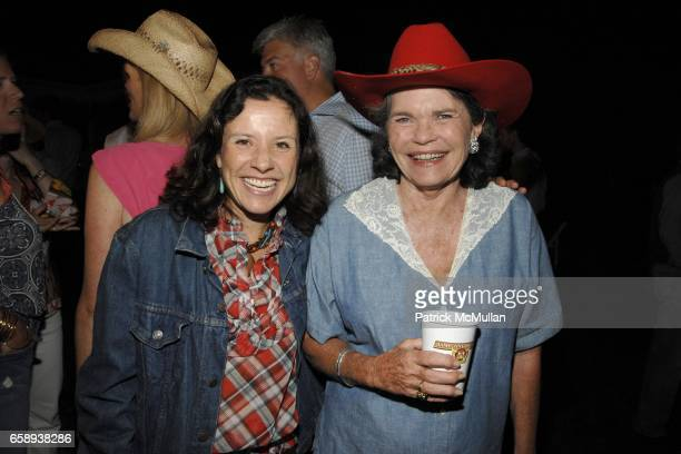 Janie Wainwright and Mary Durkin attend HAMPTONS HOEDOWN Hosted by The DORRIAN and TASHJIAN Families at Private Residance on August 8 2009 in East...