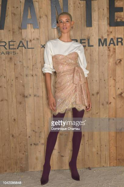 Janiece Dilone attends the L'Oreal X Isabel Marant Party as part of the Paris Fashion Week Womenswear Spring/Summer 2019 at Jardin des Tuileries on...