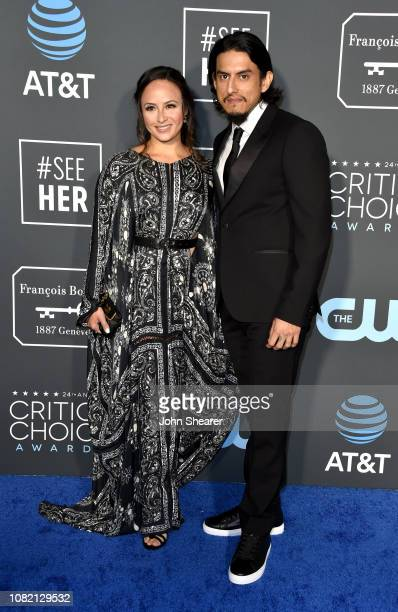 Janiece Sarduy and Richard Cabral attend the 24th Annual Critics' Choice Awards at Barker Hangar on January 13 2019 in Santa Monica California