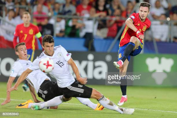 Janik Haberer MarcOliver Kempf Saul Niguez during the UEFA U21 Final match between Germany and Spain at Krakow Stadium on June 30 2017 in Krakow...