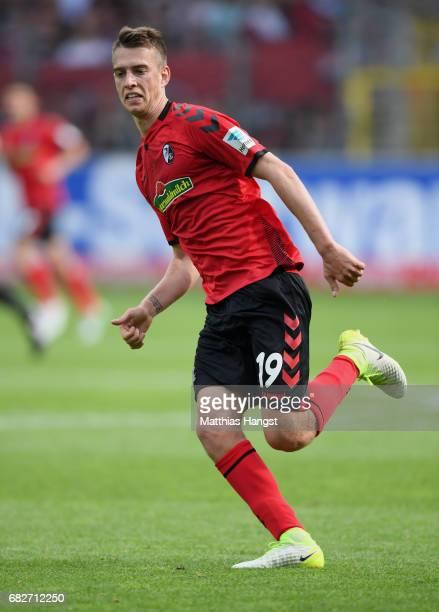 Janik Haberer of Freiburg in action during the Bundesliga match between SC Freiburg and FC Ingolstadt 04 at SchwarzwaldStadion on May 13 2017 in...