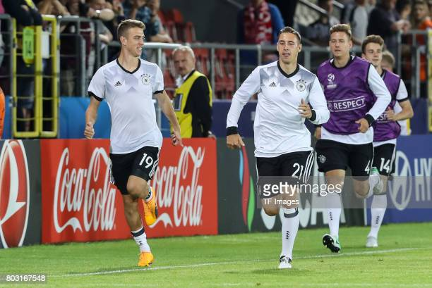 Janik Haberer of Germany Dominik Kohr of Germany during the UEFA European Under21 Championship Group C match between Germany and Denmark at Krakow...