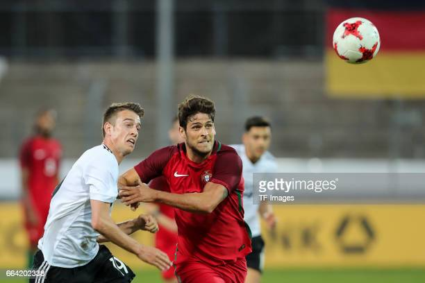 Janik Haberer of Germany und Goncalo Paciencia of Portugal battle for the ball during the International Friendly match between Germany U21 and...