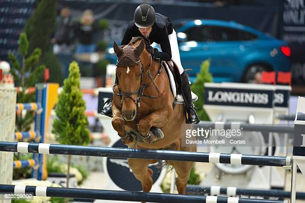 Janika of Switzerland rides Aris CMS during the FEI Longines CSI5* World Cup Small Tour By BMW Jumping Verona 2016 on November 10 2016 in Verona Italy