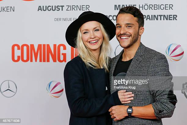 Janin Reinhardt and Kostja Ullmann attend the 'Coming In' Premiere in Berlin on October 22 2014 in Berlin Germany
